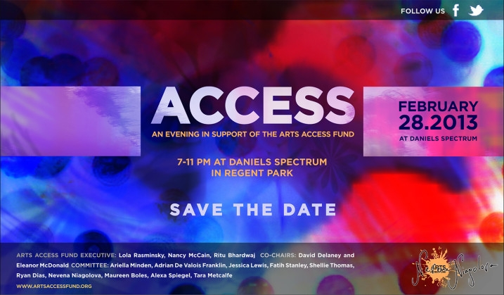 Access 2013 Save the date