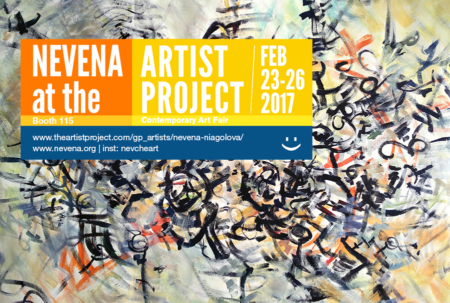 Nevena at the Artist Project