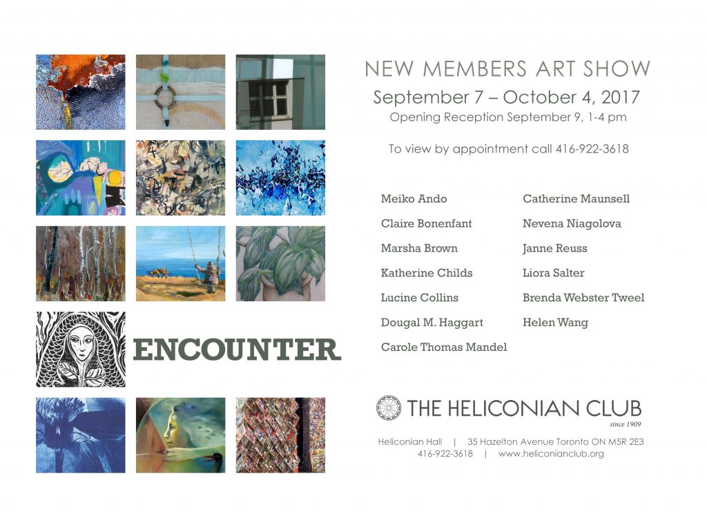 Encounter Heliconian Club Exhibition